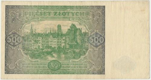 500 złotych 1946 - A - pierwsza seria