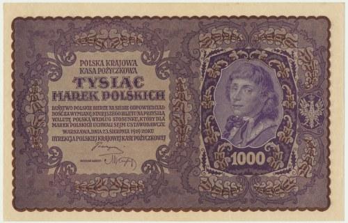 1.000 marek 1919 - I Serja BW -