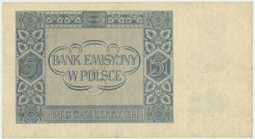 5 złotych 1940 -B -