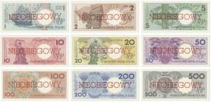 Komplet Miasta Polski z nadrukiem NIEOBIEGOWY (9szt.) - różne serie