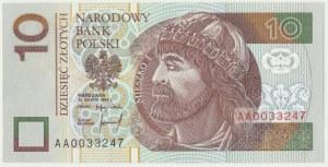 10 złotych 1994 - AA 0033247 -
