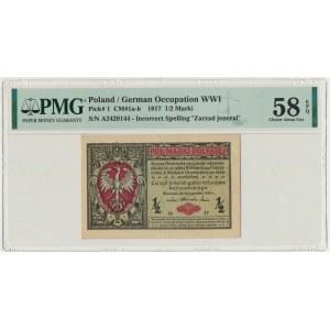 1/2 marki 1916 Jenerał - A - PMG 58 EPQ