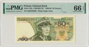 50 złotych 1988 - GB - PMG 66 EPQ - pierwsza seria rocznika