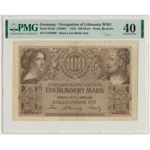Kowno 100 marek 1918 - PMG 40