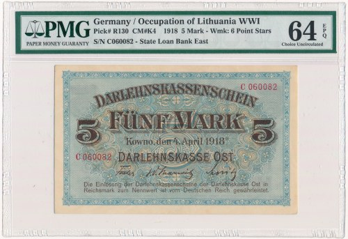 Kowno 5 marek 1918 - C - PMG 64 EPQ