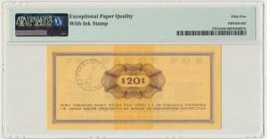 Pewex 20 dolarów 1969 - FH - PMG 55 EPQ