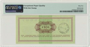 Pewex 10 dolarów 1969 - FF - PMG 55 EPQ