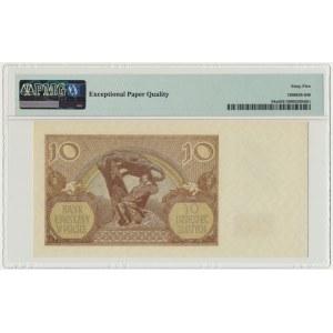 10 złotych 1940 - N. - PMG 65 EPQ z dopiskiem London Counterfeit - rzadka seria