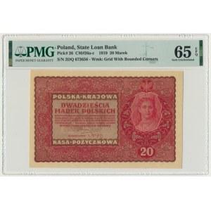 20 marek 1919 - II Serja DQ - PMG 65 EPQ