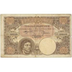 1.000 złotych 1919 S.A - RZADKI