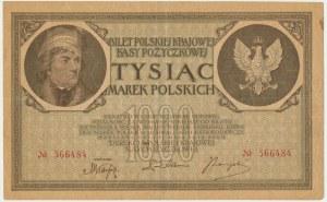 1.000 marek 1919 - bez oznaczenia serii - RZADKA