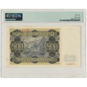 500 złotych 1940 - A - PMG 64