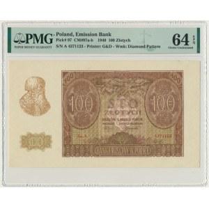 100 złotych 1940 - A - PMG 64 EPQ