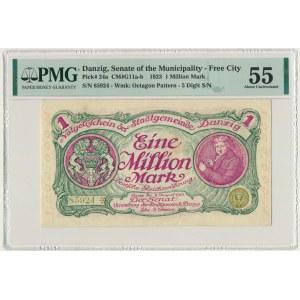 Gdańsk 1 milion marek 08 Sierpnia 1923 - num. 5 cyfrowa z ❊ nieobróconą - PMG 55