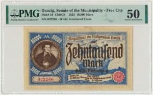 Gdańsk 10.000 marek 1923 - PMG 50