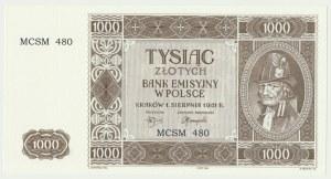 Krakowiak, 1.000 złotych 1941 - MCSM 480 -