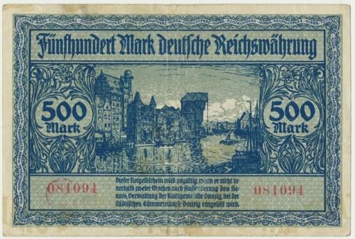 Gdańsk 500 marek 1922