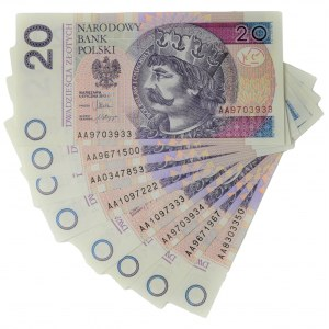 Zestaw, 20 złotych 2012 - AA (8 szt.)