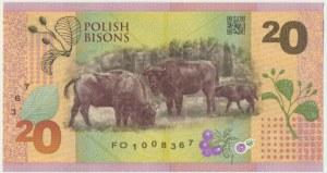 PWPW, 20 złotych (2019) - Polskie żubry - FO -