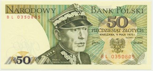 50 złotych 1975 - BL -