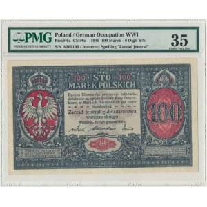 100 marek 1916 Jenerał - 6 cyfr - PMG 35