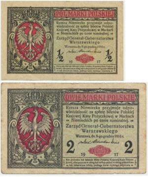 Zestaw 1/2 - 2 marki 1916 (2 szt.)