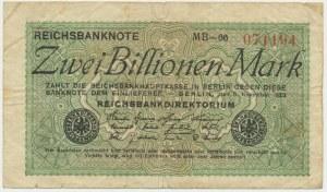 Niemcy, 2 biliony marek 1923