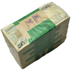 Zgrzewka bankowa 50 złotych 1988 - KA - ( 1.000 sztuk )