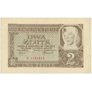 2 złote 1940 - D -