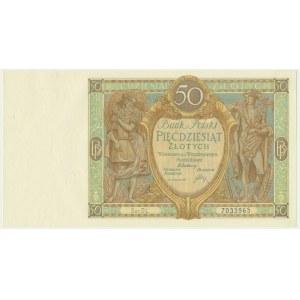 50 złotych 1929 - Ser.DL. -