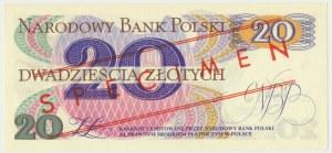 20 złotych 1982 WZÓR A 0000000 No.0882