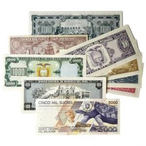 Zestaw, Banknoty Ameryka Południowa i Środkowa (9szt.)
