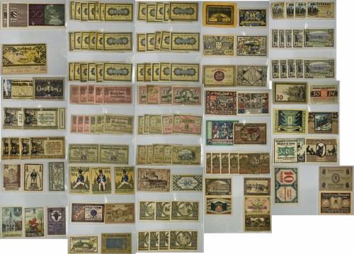 Obszerny zestaw notgeldów (ok. 240 szt.)