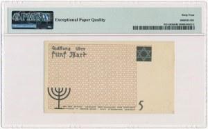 5 marek 1940 - numerator pomarańczowy - papier kartonowy - PMG 64 EPQ