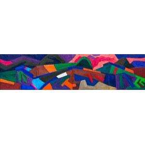 Roman Maisei, Krajobraz z różowym niebem, 2019-2020