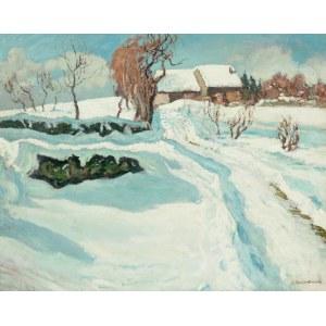 Alfred Świeykowski (1869-1953), Pejzaż zimowy.