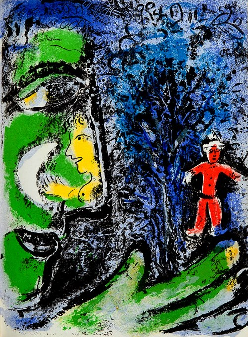 Marc Chagall (1887 - 1985), LE PROFIL ET L'ENFANT ROUGE