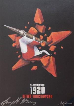 proj. Andrzej PĄGOWSKI (ur. 1953), Grafika z autografami Andrzeja Pągowskiego oraz Jerzego Hoffmana do filmu