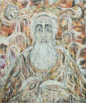 Zdzisław LACHUR (1920-2007), Żyd z monetami, z cyklu: Judaica, 2002