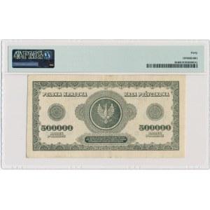 500.000 marek 1923 - N - 6 cyfr z ❉ - PMG 40