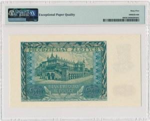 50 złotych 1940 - A - PMG 65 EPQ