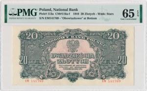 20 złotych 1944 ...owe - EM - PMG 65 EPQ