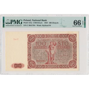 100 złotych 1947 - C - PMG 66 EPQ
