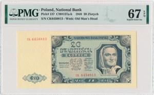 20 złotych 1948 - CK - PMG 67 EPQ