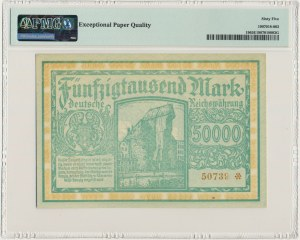 Danzig, 50.000 mark 1923 no. 5 digits with ❊ - PMG 65 EPQ