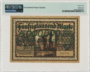 Danzig, 5 milion mark 1923 - green overprint - PMG 67 EPQ
