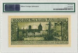 Gdańsk, 10 milionów marek 1923 - bez oznaczenia serii - PMG 63