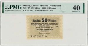 Danzig, 50 Pfennige 1923 October - inverted numbering ❊- PMG 40