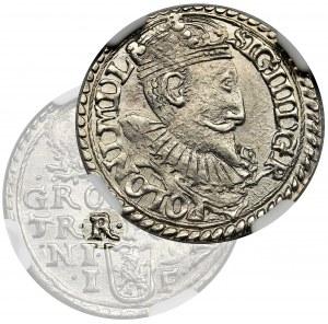 Sigismund III Vasa, 3 Groschen Olkusz 1597 - NGC MS62