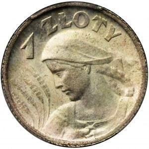 Kobieta i kłosy, 1 złoty Paryż 1924 - PCGS MS64